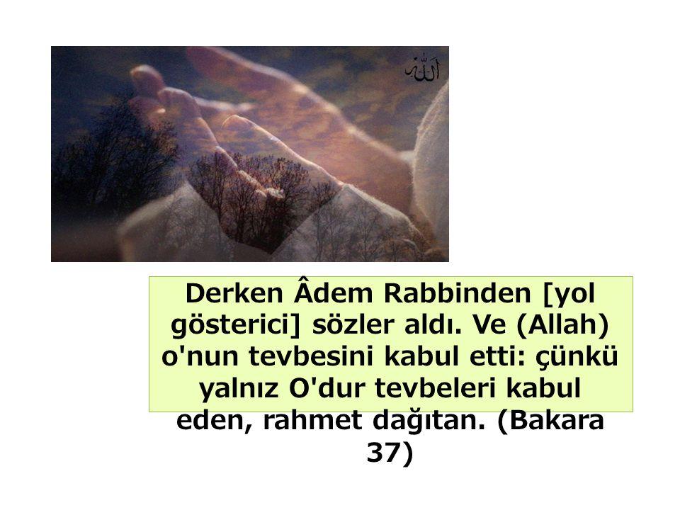 Derken Âdem Rabbinden [yol gösterici] sözler aldı